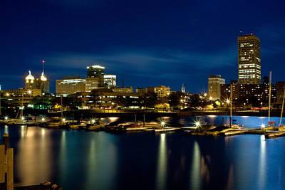 Waterfront Lights Art Print