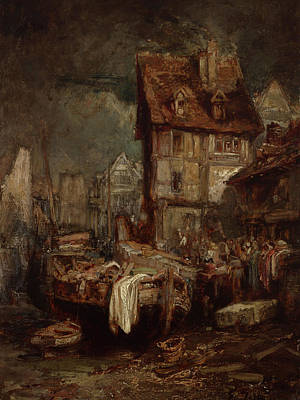 Painting - Waterfront Market by Eugene-Louis-Gabriel Isabey