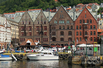 Photograph - Waterfront Near The Fish Market, Bergen by Andrew Michael