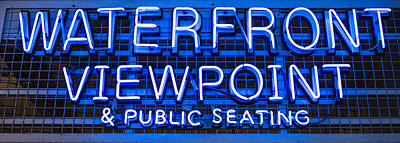 Pike Place Photograph - Waterfront Neon Pike Place Market Seattle by Steve Gadomski