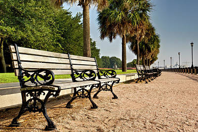 Waterfront Park Bench  Art Print by Drew Castelhano