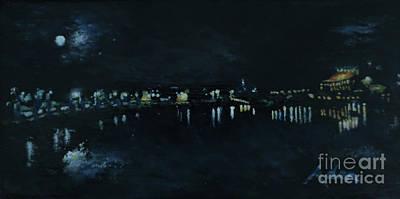 Painting - Waterfront Park October Night Painting by Felipe Adan Lerma