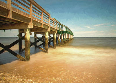 Photograph - Waterfront Park Pier 1 by Gary Slawsky