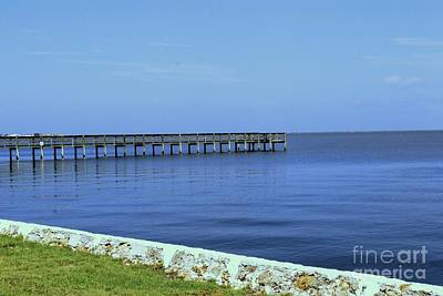 Photograph - Waterfront Pier by Gary Wonning
