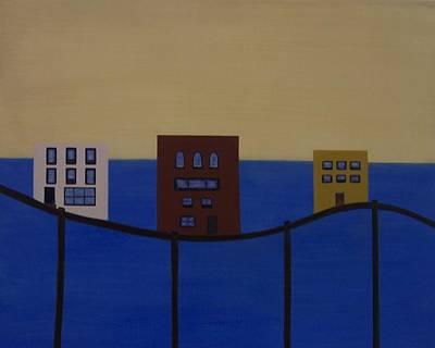 Waterfront Property Art Print by Sandy Bostelman