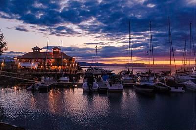 Photograph - Waterfront Summer Sunset by Sven Kielhorn