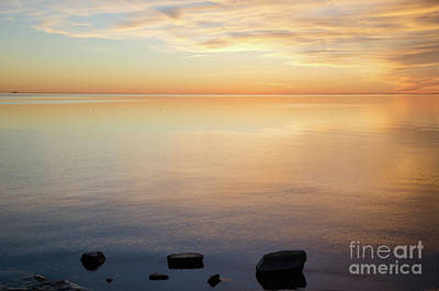 Photograph - Waterfront View By Sunset by Kennerth and Birgitta Kullman