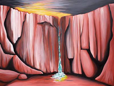 Kelso Painting - Waterhole by Bonnie Kelso