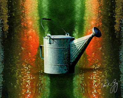 Watering Can Mixed Media - Watering Can No.2 by Paul Gaj