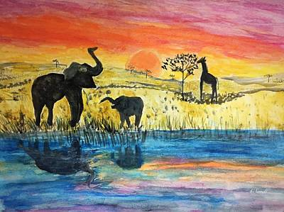 Painting - Watering Hole by Anne Sands