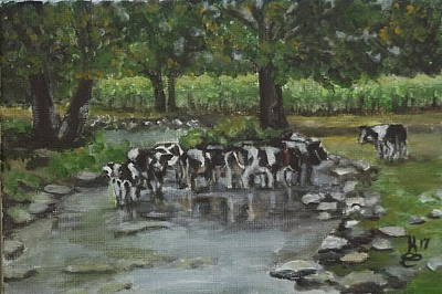 Painting - Watering Hole by Kim Selig