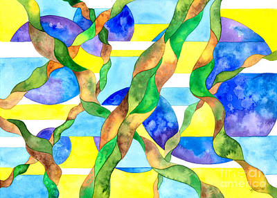 Painting - Watering The Lawn Abstract by Kristen Fox