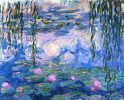 Art Print featuring the painting Waterlilies 1919  by Claude Monet