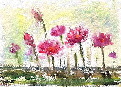 Painting - Waterlilies by Asha Sudhaker Shenoy