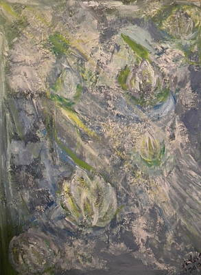 Painter Mixed Media - Waterlilies by Carmen Kolcsar