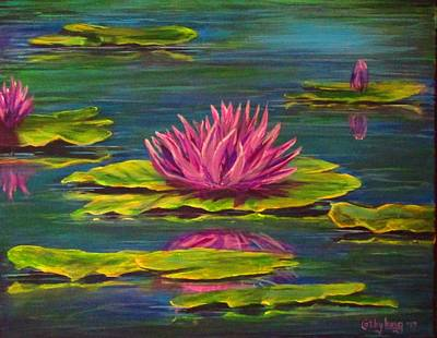 Painting - Waterlilies by Cathy Long