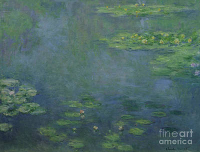 Reflecting Water Painting - Waterlilies by Claude Monet