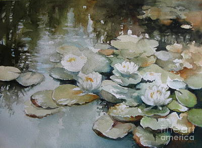 Painting - Waterlilies Flowers by Elena Oleniuc