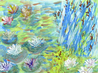 Painting - Water Lilies In Watercolor by Carol F Austin