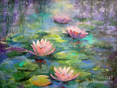 Painting - Waterlilies by Madeleine Holzberg