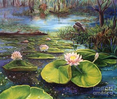 Waterlilies Art Print by Renate Nadi Wesley