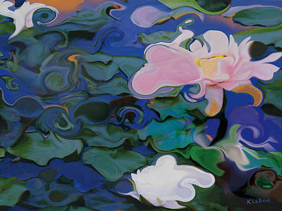 Painting - Waterlilies Six by David Klaboe