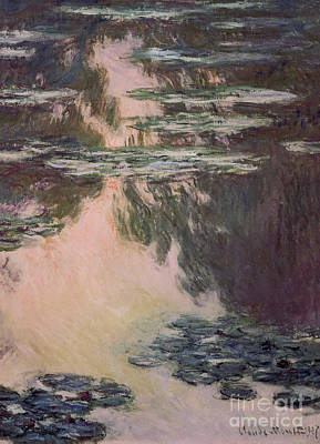 Dgt Painting - Waterlilies With Weeping Willows by Claude Monet