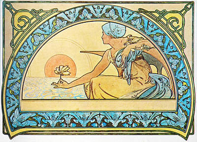 Painting - Waterlily by Alphonse Mucha