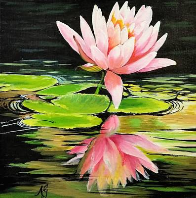 Painting - Waterlily by Anne Gardner