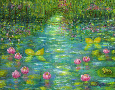 Waterlily Butterflies Art Print