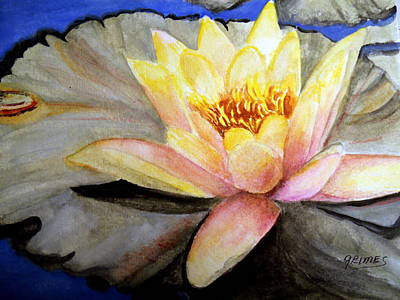 Painting - Waterlily  by Carol Grimes