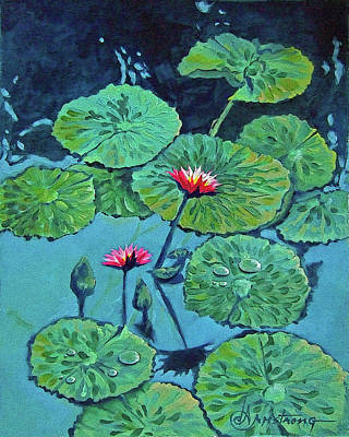 Waterlily Art Print by Denise Armstrong