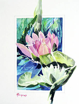 Painting - Waterlily Design by Rae Andrews