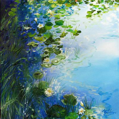 Waterlily Landscape Art Print by Marcia Baldwin