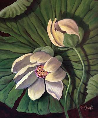 Painting - Waterlily Like A Clock by Randy Burns