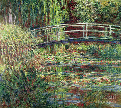 Lily Pad Painting - Waterlily Pond by Claude Monet