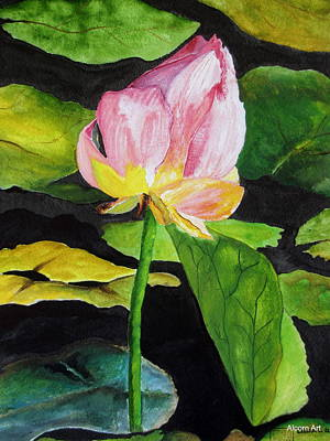 Waterlily Watercolor Art Print by Brenda Alcorn