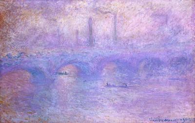 Steam Painting - Waterloo Bridge, Effect Of Fog by Claude Monet