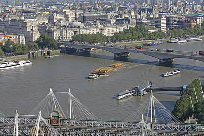 Photograph - Waterloo Bridge From London Eye by Tony Murtagh