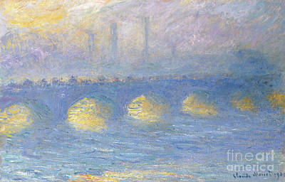 Painting - Waterloo Bridge, Temps Couvert, 1904 by Claude Monet