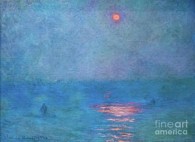 Painting - Waterloo Bridge The Sun In A Fog by Claude Monet