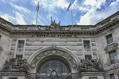 Photograph - Waterloo Station by Christopher Rees