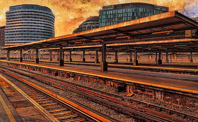 Digital Art - Waterloo Sunset / I Am In Paradise by Leigh Kemp