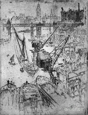 Drawing - Waterloo Works, 1906 by Granger