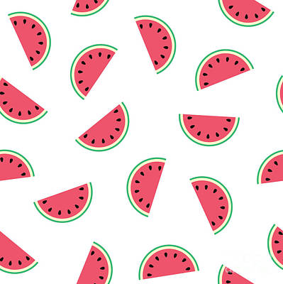 Watermelon Drawing - Watermelon by Alina Krysko