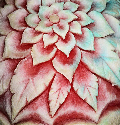 Photograph - Watermelon Carving by Kristin Elmquist