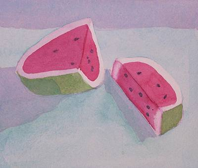 Watermelon Art Print by Charlotte Hickcox