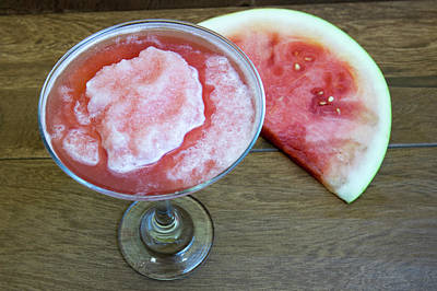 Martini Royalty-Free and Rights-Managed Images - Watermelon daiquiri or martini  by Karen Foley