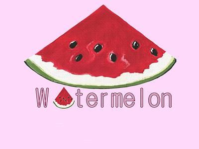 Watermelon Mixed Media - Watermelon by Kathleen Sartoris