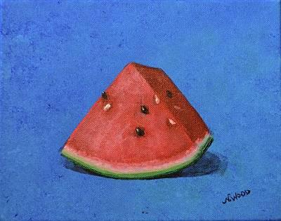 Watermelon Art Print by Nancy Otey